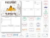 Passport and Stamp Book for Learning and Play