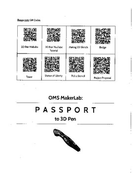 Passport to 3D Pen (STEAM, Makerspace, STEM)