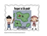 Passport to 5th grade: 4th grade end of year scavenger hunt!