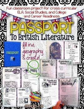 PASSPORT TO BRITISH LITERATURE: GRADES 7-12 (EDITABLE)