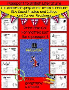 PASSPORT TO BRITISH LITERATURE: GRADES 7-12 (PRINT AND GO)