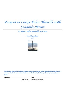Passport to Europe- Marseille Video Two Column Notes