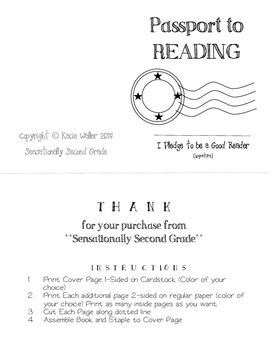 Passport to Reading- Reading Log