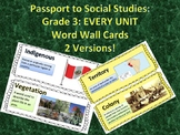Passport to Social Studies: Grade 3 EVERY UNIT Vocabulary Word Wall Card Bundle