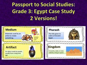 Passport to Social Studies: Grade 3 Egypt Case Study Word Wall (2 versions)