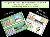 Passport to Social Studies: Grade 4, Unit 5 Word Wall Cards (2 Versions)