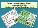 Passport to Social Studies Grade 5 CANADA STUDY Word Wall