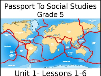 Passport to Social Studies - Grade 5 - Unit 1 - Lessons 1 - 6