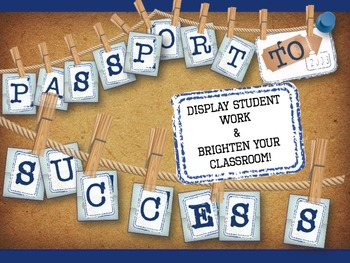 """""""Passport to Success"""" Classroom Bunting - Travel or Vintage Theme"""