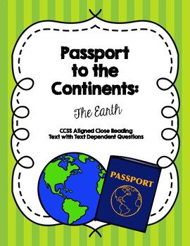 Passport to the Continents: The Earth