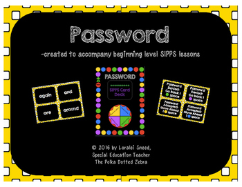 Password - A SIPPS Sight Word Game