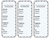 Password Bookmark with Reading Level