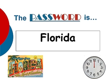 Password Game Template Power Point