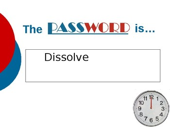 Password Game Vocabulary Review Template
