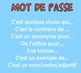 Password Game in French: Childhood toys, activities, and adjectives