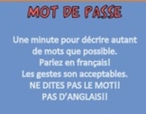 Password Game in French: Vocabulary for Giving Directions