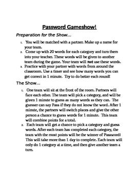 Password Gameshow