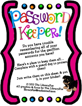 Password Keeper with Guard Dog