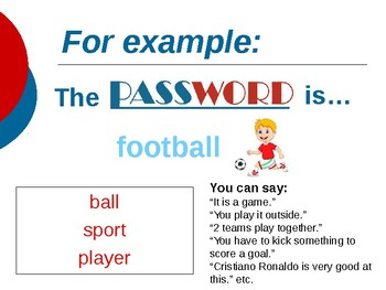 Password PPT ESL Speaking Game Powerpoint template