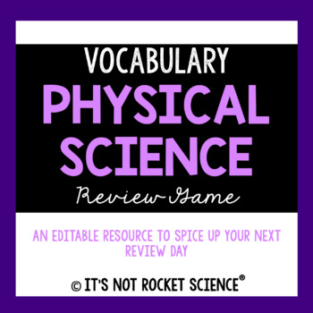"""""""Password"""" Physical Science Cumulative Review Game"""
