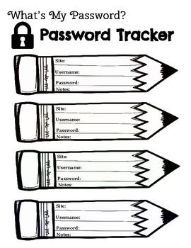 Password Printable