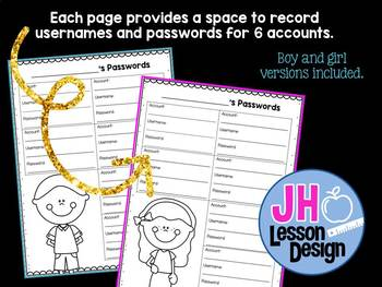 Password Recording Pages
