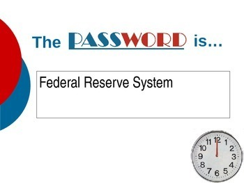 """""""Password"""" Review Game on Imperialism and Progressivism"""