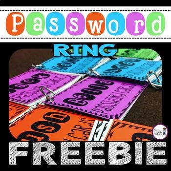 Password Ring FREEBIE - Editable
