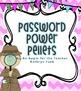 Password- Ticket out the Door Activity