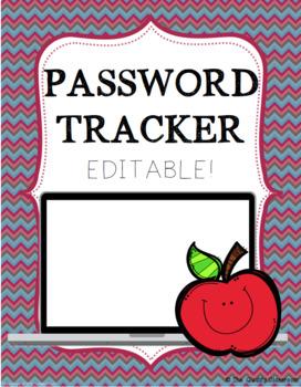 Password Tracker EDITABLE