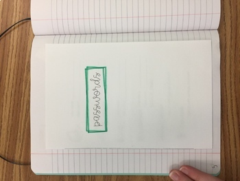Password Tracker Foldable Booklet - Perfect for Interactive Notebooks