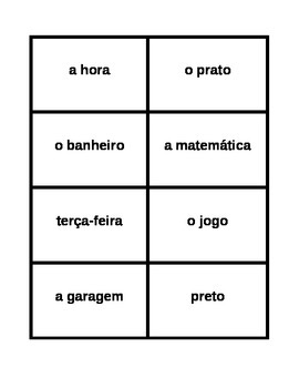 Password game in Portuguese
