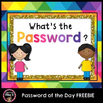 Password of the Day FREEBIE