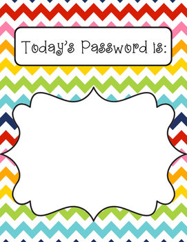 Password of the Day Sign