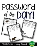 Password of the Day - Woodland Theme
