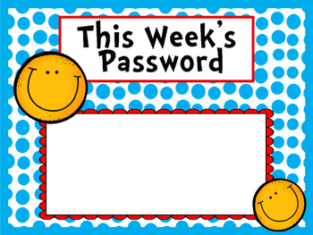 Password of the week