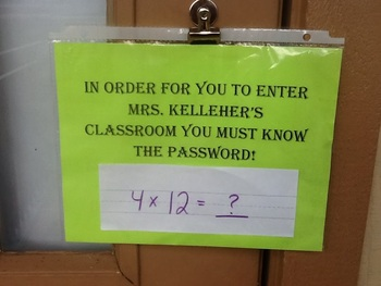 Password to Enter Classroom
