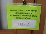 Password to Enter Classroom
