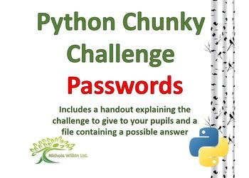 Passwords Python Chunky Challenge