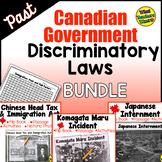 Past Canadian Discriminatory Immigration Laws BUNDLE