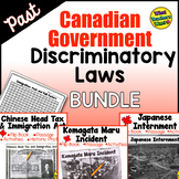 Past Canadian Discriminatory Immigration Laws BUNDLE