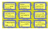 Past Continuous Tense Legal Size Text Card Game