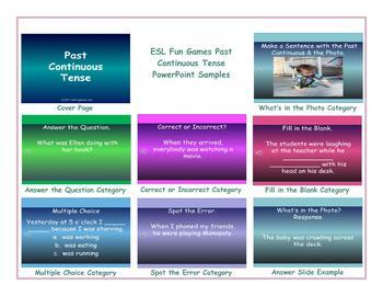 Past Continuous Tense PowerPoint Presentation
