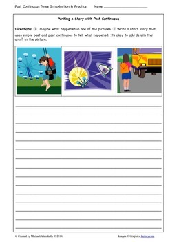Past Continuous Worksheets