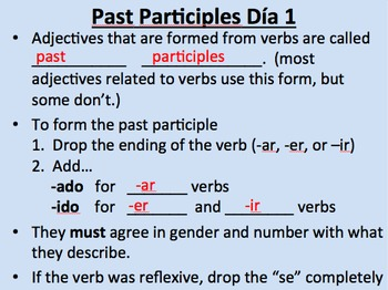 Past Participles And How To Use Them As Adjectives