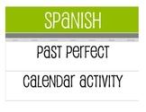 Spanish Past Perfect Calendar Activity
