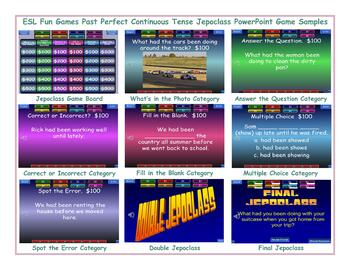 Past Perfect Continuous Tense Jeopardy PowerPoint Game