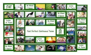 Past Perfect Continuous Tense Legal Size Photo Board Game