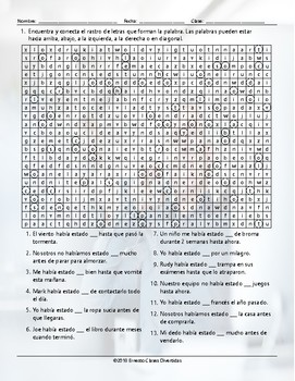 Past Perfect Continuous Tense Wacky Trails Spanish Worksheet