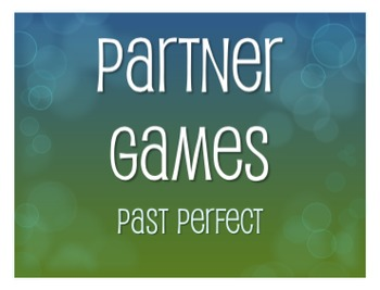 Spanish Past Perfect Partner Games